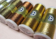 DMC Diamant Metallic Thread Machine Embroidery Thread, Embroidery Applique, Embroidery Patterns, Embroidery Materials, Embroidery Supplies, Crazy Quilt Stitches, Needlework Shops, Dmc, Japanese Embroidery