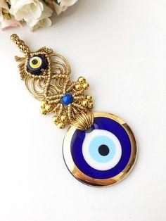 COLGANTE OJO TURCO CRISTAL MURANO MIX BLUE GLASS TURKISH EVIL EYE CHARM