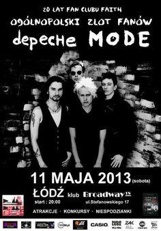 Depeche Mode concert poster.