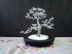 Handmade bonsai wire tree