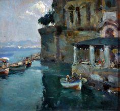 Villani Gennaro (Napoli 1885 - 1948) Palazzo Donn'Anna