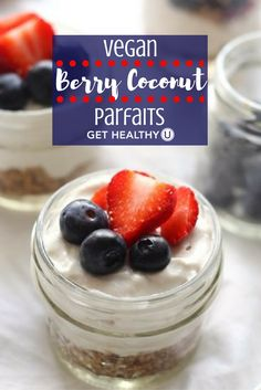 This healthy vegan berry coconut parfait is SO delicious! This simple gluten-free recipe is grain-free and full of protein, try this at home!