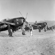 L'aviation de chasse de l'armée française à Diên Biên Phu en mission avec des avions Bearcat F8F1. – ECPAD