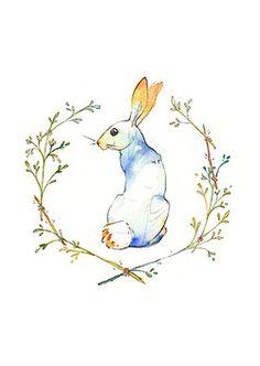 winter Illustration art hare rabbit artists on tumblr liebre Adara Sànchez Anguiano