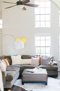 area living room with a sectional | Ever and Anon