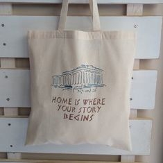 Items similar to The Parthenon, handpainted handcrafted bag, natural cotton bag colourfull design shopping bag, fashion, ideal gift. on Etsy Plastic Carrier Bags, Parthenon, Stencil Painting, Cotton Bag, Go Shopping, Reusable Tote Bags, Hand Painted, Natural, Gifts