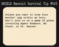shield recruit survival tips tumblr funny | Recruit Survival Tip #545: Unless you want to lose four ...EVER