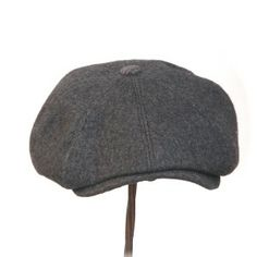 NEWSIE - charcoal grey vintage brushed woollen - Rosehip Hat Studio