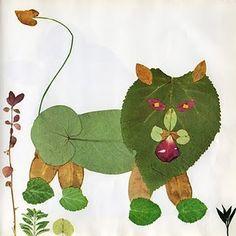 Manualidades para peques: animalitos con hojas naturales