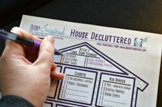 Are you tired of all the junk in your house? Get this awesome free decluttering printable that will help you declutter your home fast room by room.