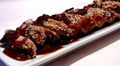 """Hoisin Pork Tenderloin - looks fancy but is super easy! A great """"company"""" meal!"""