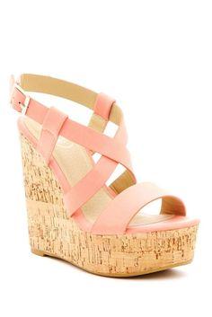 Crisscross Strap Wedge Sandal