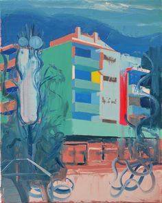 Flat with ALDI branch, 2015. Oil on linen, size: 40x50 cm | Flickr - Photo Sharing!
