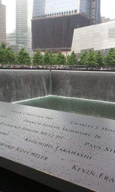 9.11 memorial waterfall.  NYC