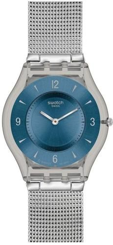 Swatch Metal Knit Blue Ladies Watch SFM120M   eBay
