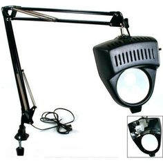 CLAMP ON SWING ARM LIGHTED MAGNIFYING LAMP HOBBY WORK DESK TABLE LAMP MAGNIFIER - Click image twice for more info - See a larger selection of magnifying lamp at http://tablelampgallery.com/product-category/magnifying-table-lamps/ - home, home decor, home ideas, gift ideas, lighting