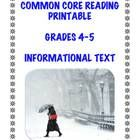 It's cold out there.....FREE today and forever: Winter-themed informational text printable aligned with 5 CC Informational Text Standards in Grades 4-5.