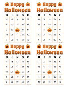 Halloween Bingo Cards, 1000 cards, 4 per page, immediate pdf download Bingo Card Maker, Halloween Bingo Cards, Custom Bingo Cards, Bingo Calls, Bingo Patterns, Bingo Night, Thanksgiving Games, Star Work, I Am Game