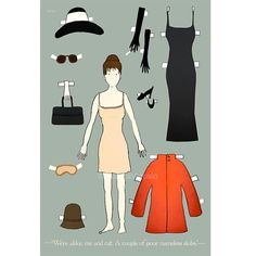 Holly Golightly paper doll by Claudia Varioso | cool mom picks