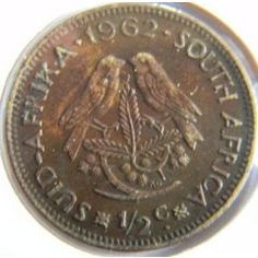 South Africa - 1962 Half Penny (Half Cent) for Old Coins Worth Money, Old Money, Old Coins Value, Sell Coins, Coin Worth, Gold And Silver Coins, Coin Values, My Family History, Coins For Sale