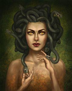Medusa Greek Mythology, Greek Mythology Tattoos, Greek And Roman Mythology, Greek Gods And Goddesses, Medusa Art, Medusa Gorgon, Medusa Tattoo, Greek Monsters, Artistic Visions