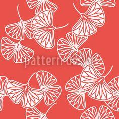 Ginkgo Vector Ornament designed by Martina Stadler Vector Pattern, Pattern Design, Vektor Muster, Ginkgo, Leaves Vector, Leaf Logo, More Wallpaper, Ornaments Design, Japan