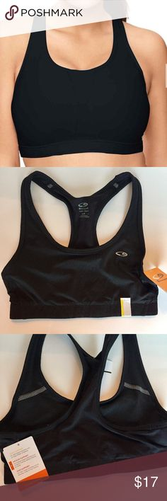 🆕 CHAMPION C9 Power Core Duo Dry Sports Bra - S This Power Core Medium Support Sports Bra is NEW WITH TAGS and has never been worn.  The Sports bra features back mesh construction. supportive compression fit smooth band for comfort racerback moisture-wicking fabric nylon/spandex washable imported Champion Intimates & Sleepwear Bras