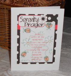 Serenity Prayer printed background of ladybugs by 12StepUnityGal, $5.00