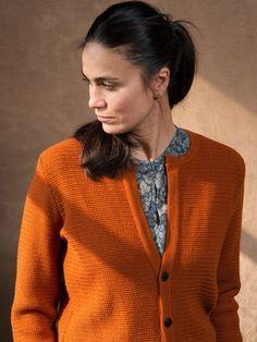 WOLFEN GERMANY Cardigan 100% merino wool