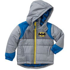 DC Comic's Baby Boys' Batman Hooded Winter Jacket $25.00