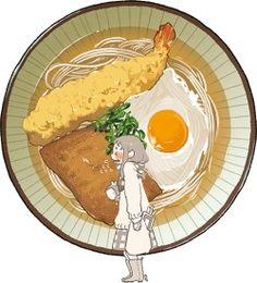 Buckwheat noodles, tempura kana ~ Web-tana