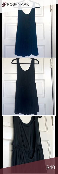 The Ingrid Dress by Brandy Melville Black Very similar to her Jada style dress. This one is called Ingrid. EUC Size is ONE SIZE color is black Brandy Melville Dresses Mini