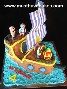 Jake And The Neverland Cake | jake the neverland pirates ship cake fondant sponge cake