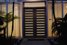 A tropical and modern looking entry way from this ETO Doors customer.
