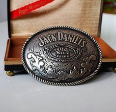 Jack Daniel's Cowboy Belt Buckle, Old No. 7 on Etsy, $19.00