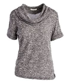 This Black Cowl Neck Hacci Top is perfect! #zulilyfinds
