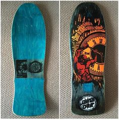 Old School Skateboards, Vintage Skateboards, Skateboard Deck Art, Skateboard Design, Skate And Destroy, Skate Art, Skate Decks, Surf Art, Bmx Bikes