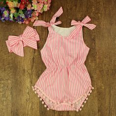 baby rompers | Striped Baby Romper Shorts Bubble Toddler Baby Jumpsuit Photography Props,Newborn Baby Clothing Set Summer Wear