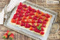 Receta de tarta rápida de fresas con nata y queso crema Delicious Deserts, Cakes And More, Nutella, Bakery, Cheesecake, Strawberry, Food And Drink, Fruit, Cooking