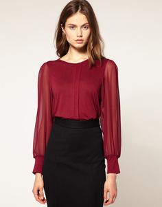 I have 1 blouse in this colour (wine red). Need more!