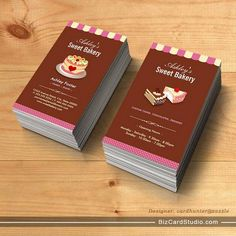 Chocolate business card pinterest business cards chocolate and sweet bakery shop custom cakes chocolates pastry business card templates colourmoves