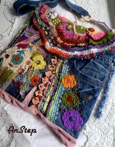 """Купить Сумка-торба """"Девочка-Индия"""" - комбинированный, джинсовая сумка, сумка ручной работы"""