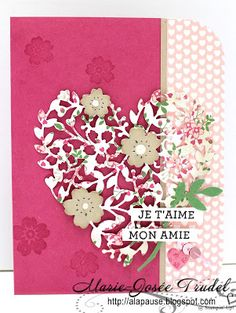 A La Pause: BLOG HOP - Eclosion d'Amour et Coeur en Éclosion / Bloomin' Love and Bloomin' Heart