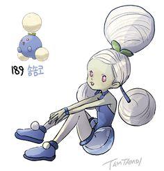 Pokemon Gijinka 187. Hoppip 188. Skiploom 189. Jumpluff