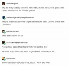 Arthur and the knights of the Weasleys