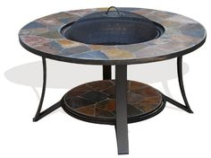 The Arizona Sands II fire pits table is now new and improved. We listened and made the table higher and made a convenient place at the bottom of the legs to hold the fire pit lid. It warms the air on chilly nights and serves as a stylish table i. Fire Pit Coffee Table, Outdoor Fire Pit Table, Fire Table, Fire Pit Patio, Patio Table, Outdoor Tables, A Table, Outdoor Living, Backyard Patio