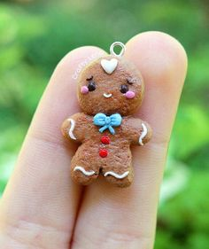 Check out this item in my Etsy shop https://www.etsy.com/listing/531987655/gingerbread-man-charm-polymer-clay-cute
