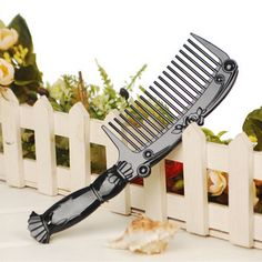 Vintage Rose classic black Portablr Handle Combs Hair Styling Tool Hairstyle Wide Tooth Plastic Curly Hair Care Handgrip Comb