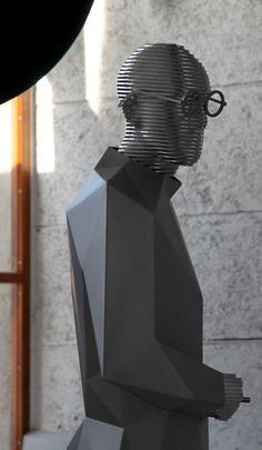 * sculpture by Xavier Veilhan Le Corbusier, Art Mannequin, Low Poly, Xavier Veilhan, Modern Art, Contemporary Art, Installation Street Art, Silhouette Cameo, Modelos 3d