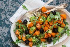 Édesburgonya-saláta - Recept | Femina Okra, Cobb Salad, Main Dishes, Healthy Recipes, Ethnic Recipes, Food, Main Course Dishes, Entrees, Gumbo